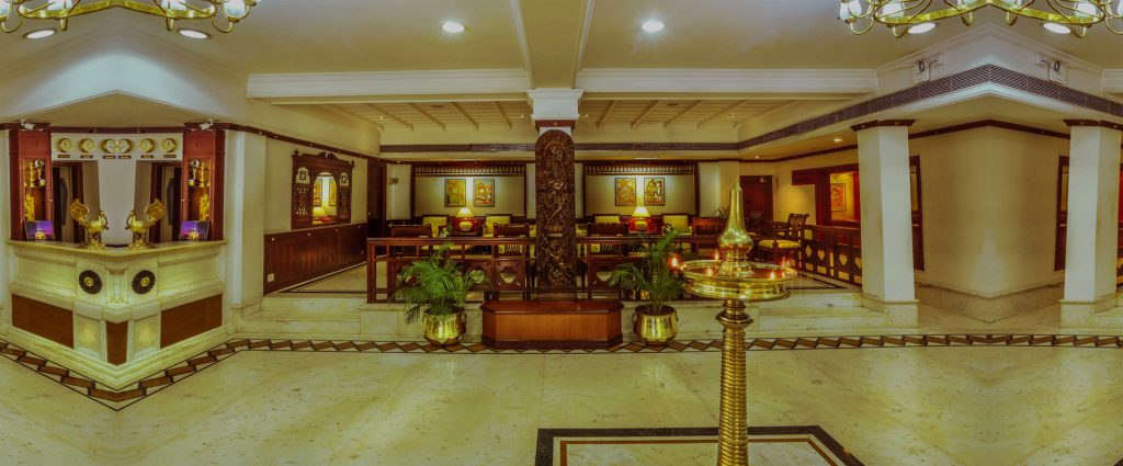 inside view of krishna inn- hotel in guruvayoor