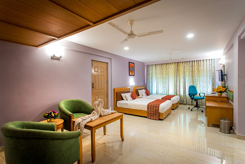Side view of our rooms- Krishna Inn