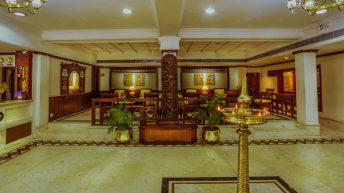 inside view of krishna inn- hotel in guruvayoor